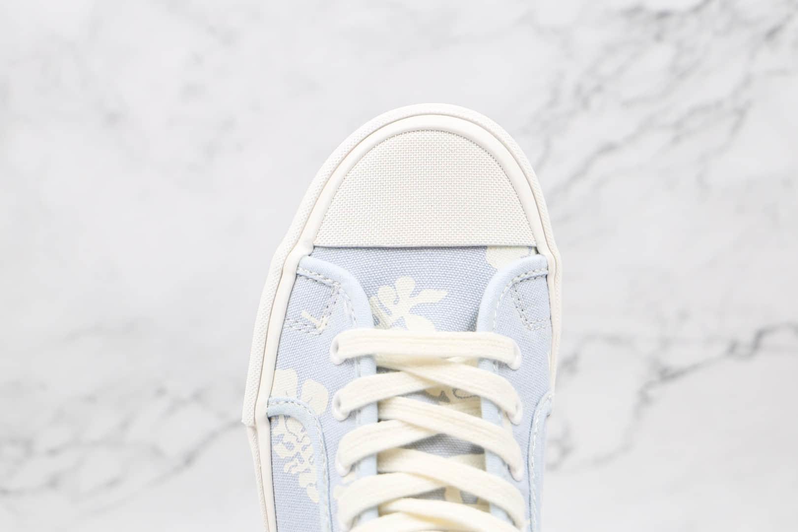 万斯Vans Vault OG Style 24 LX公司级版本高帮淡蓝色花卉硫化板鞋原鞋开模一比一打造 货号:VN0A5HUT4O6