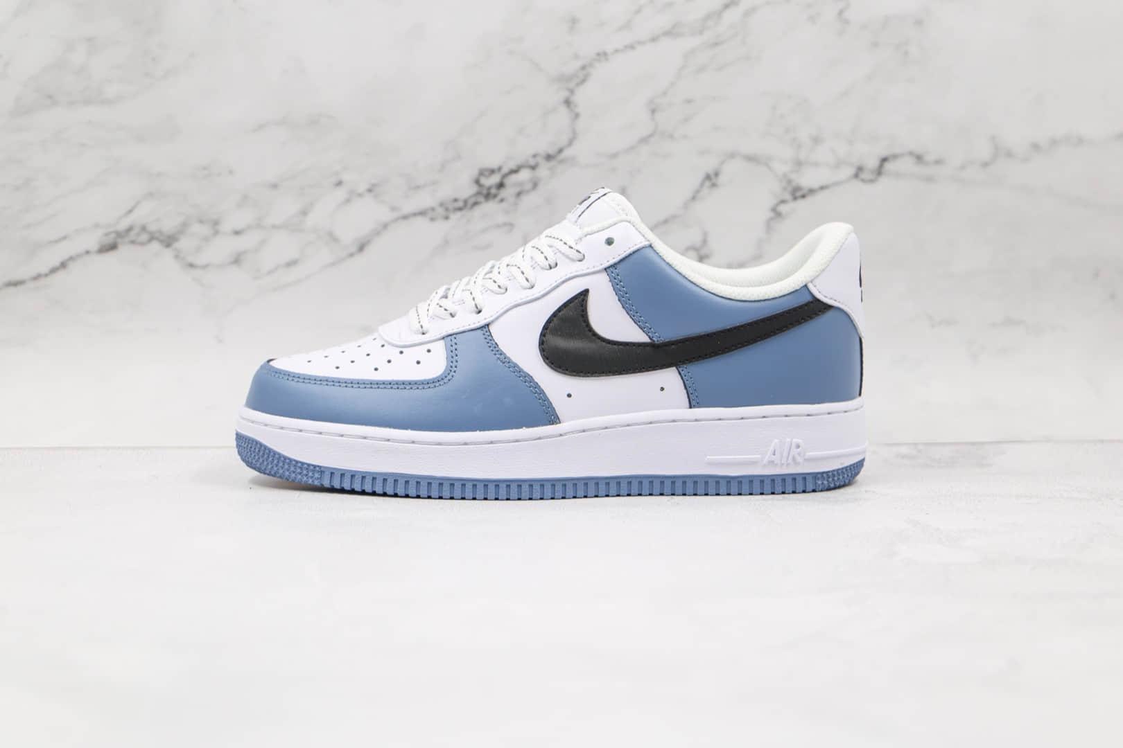 耐克Nike Air Force 1 07 Low纯原版本低帮空军一号天晴蓝黑勾板鞋内置气垫 货号:CQ5059-109