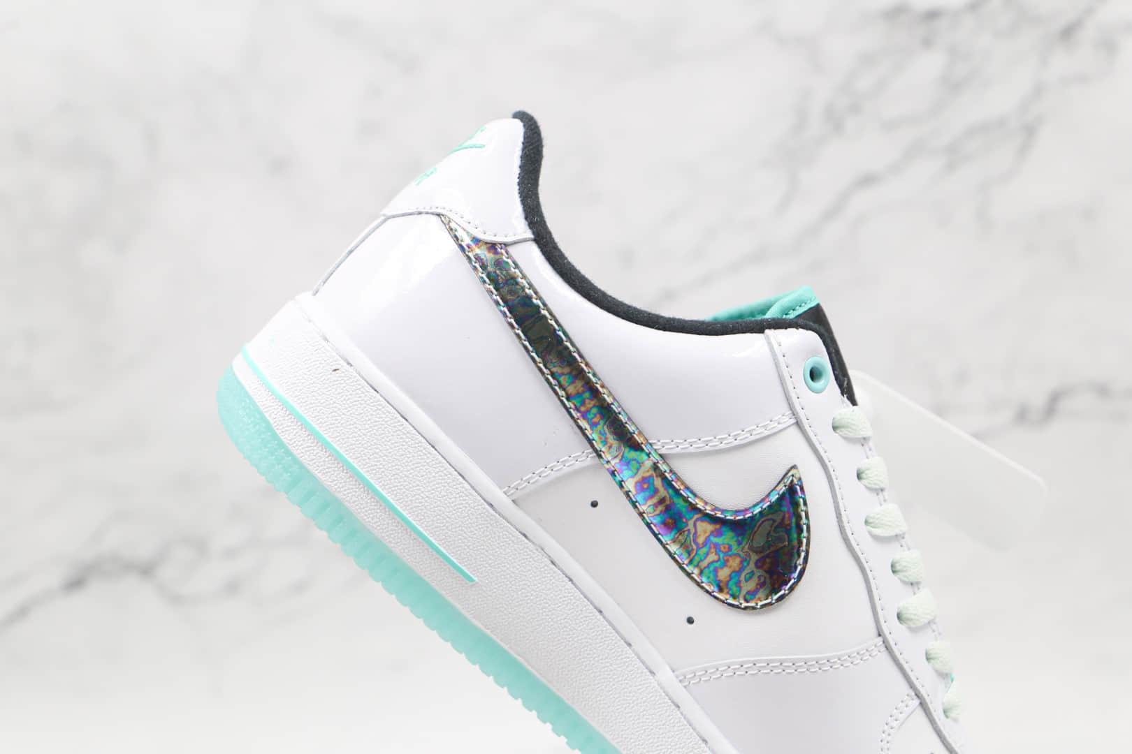 耐克Nike AIR FMRCE 1纯原版本低帮空军一号冰绿白色板鞋原楦头纸板打造 货号:DD9613-100