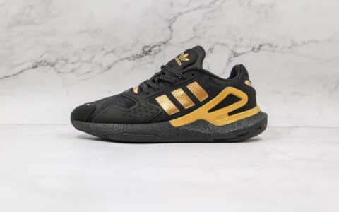 阿迪达斯Adidas Day Jogger 2021 Boost纯原版本夜行者二代黑金色爆米花跑鞋原档案数据开发 货号:DW4838