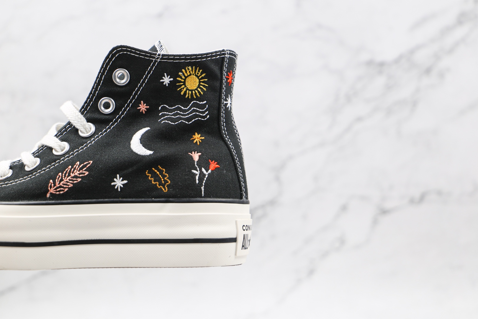 匡威CONVERSE 1970S公司级版本厚底黑色刺绣星辰大海配色硫化板鞋原鞋开模一比一打造 货号:571085C