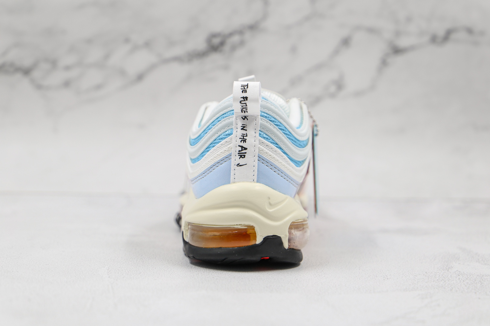 耐克Nike Air Max 97纯原版本子弹头复古气垫鞋Max97粉色渐变内置真小潘气垫 货号:DD8500-161