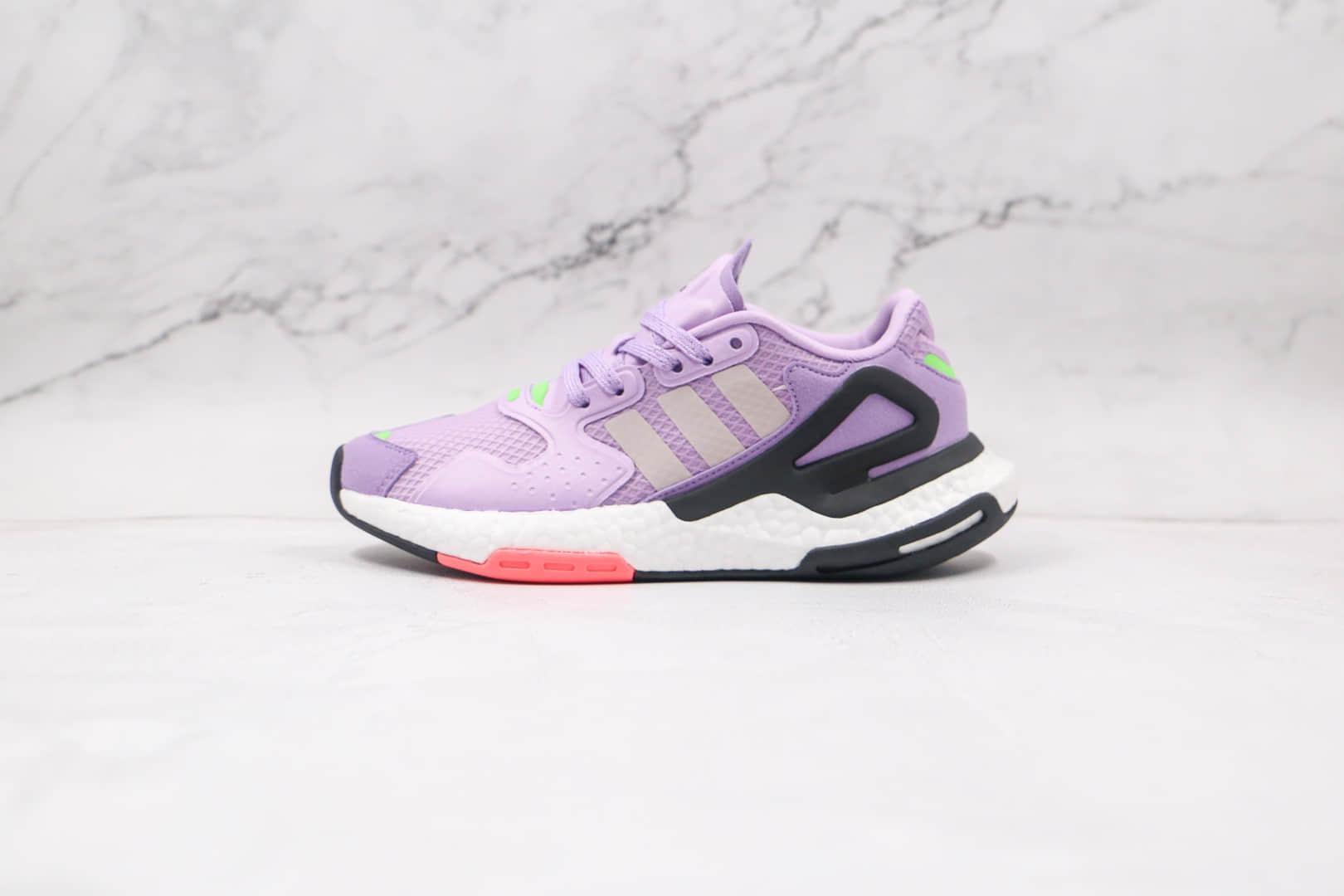 纯原版本阿迪达斯夜行者二代紫色爆米花跑鞋出货