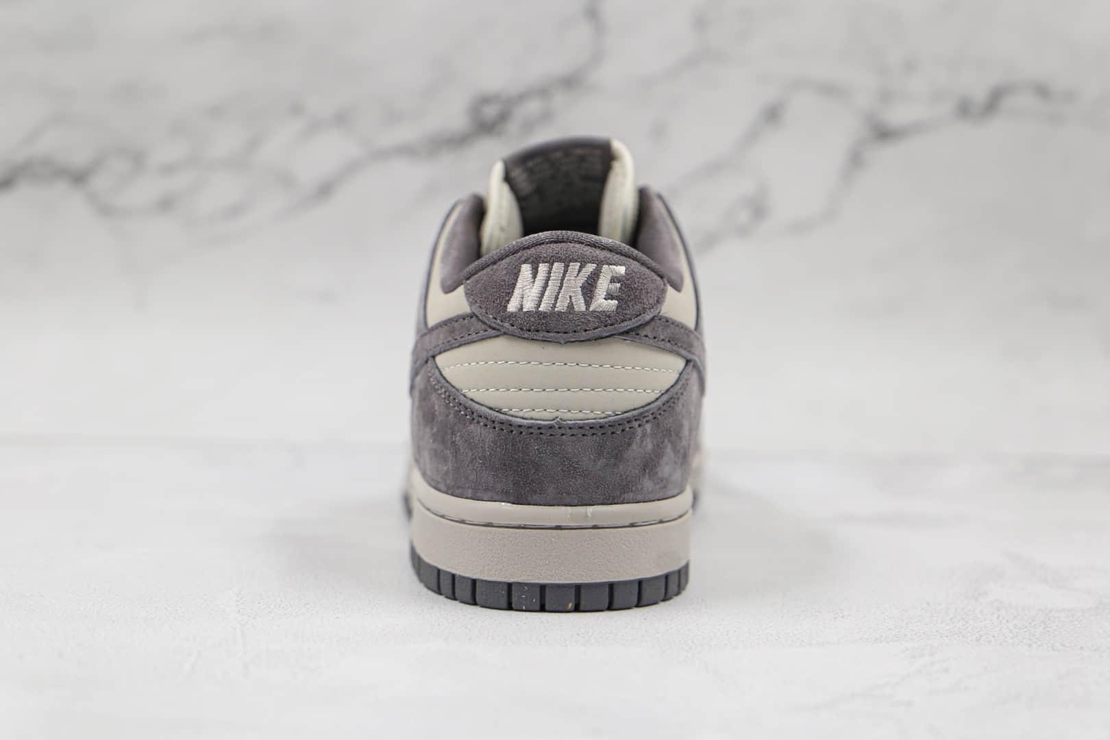 耐克NIKE SB ZOOM DUNK LOW PRO纯原版本低帮SB DUNK灰白麂皮板鞋内置Zoom气垫 货号:854866-002