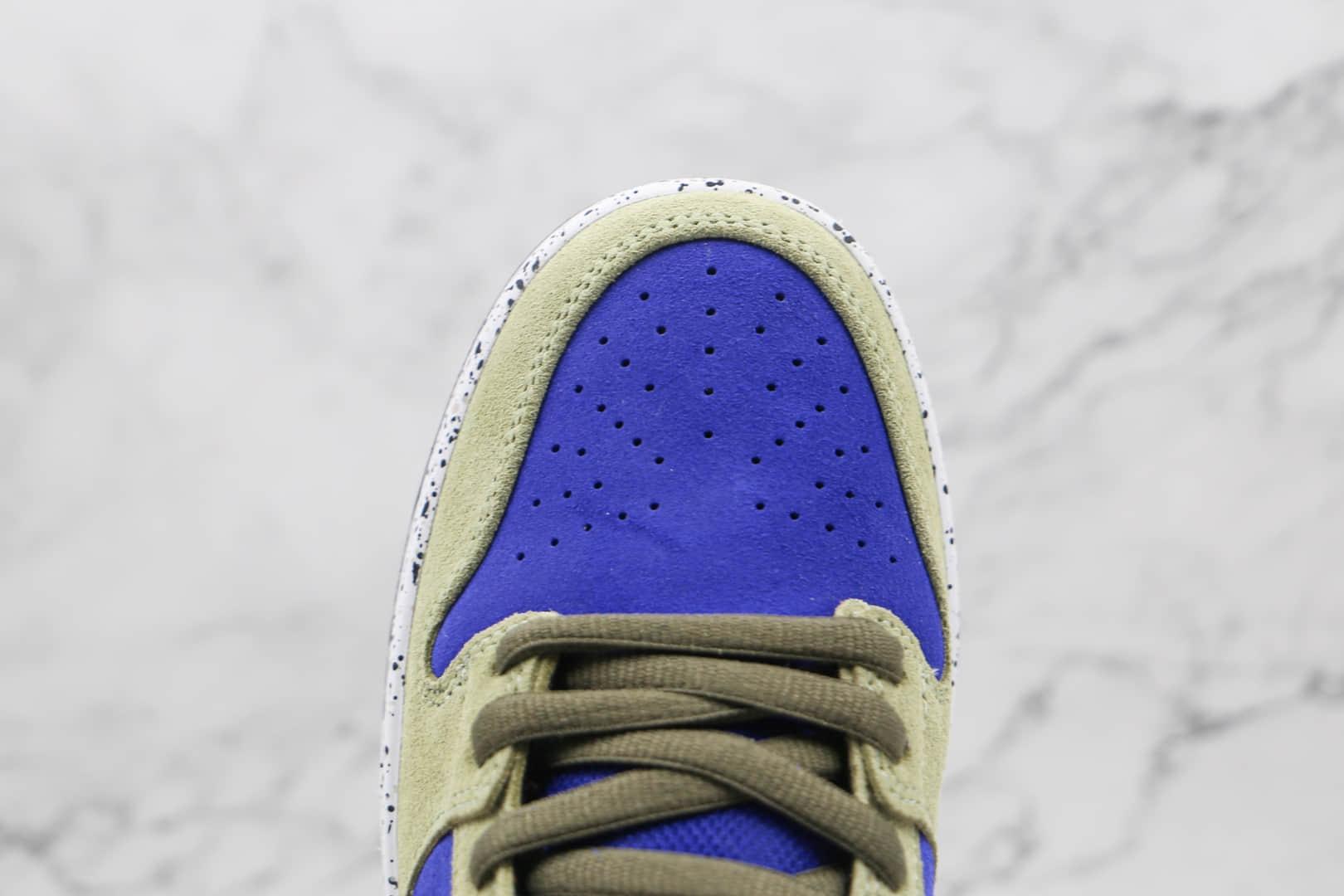 耐克Nike SB Dunk Low Celadon纯原版本低帮Dunk翻毛皮板鞋青瓷原档案数据开发 货号:BQ6817-301