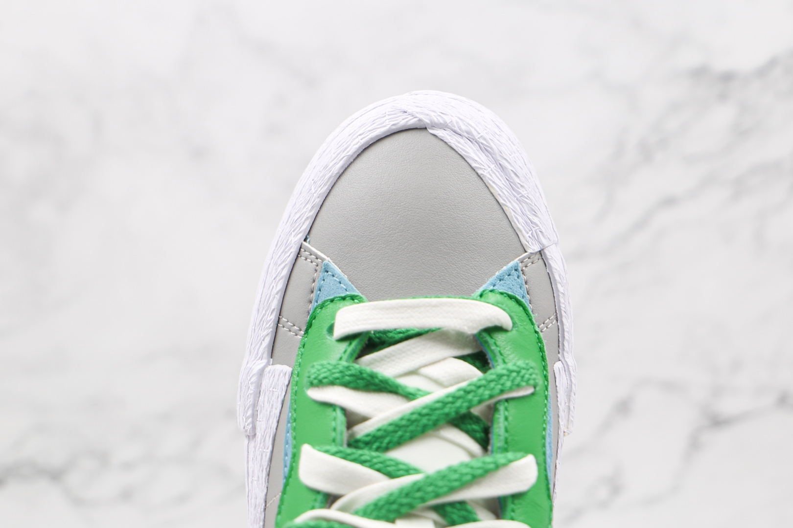 耐克Nike Blazer Low x Sacai联名款纯原版本低帮灰白绿双钩板鞋原鞋开模一比一打造 货号:DD1877-001