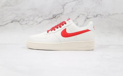 耐克Nike Air Force 1 Low 07纯原版本低帮空军一号灰白红色帆布板鞋内置气垫 货号:315122-103