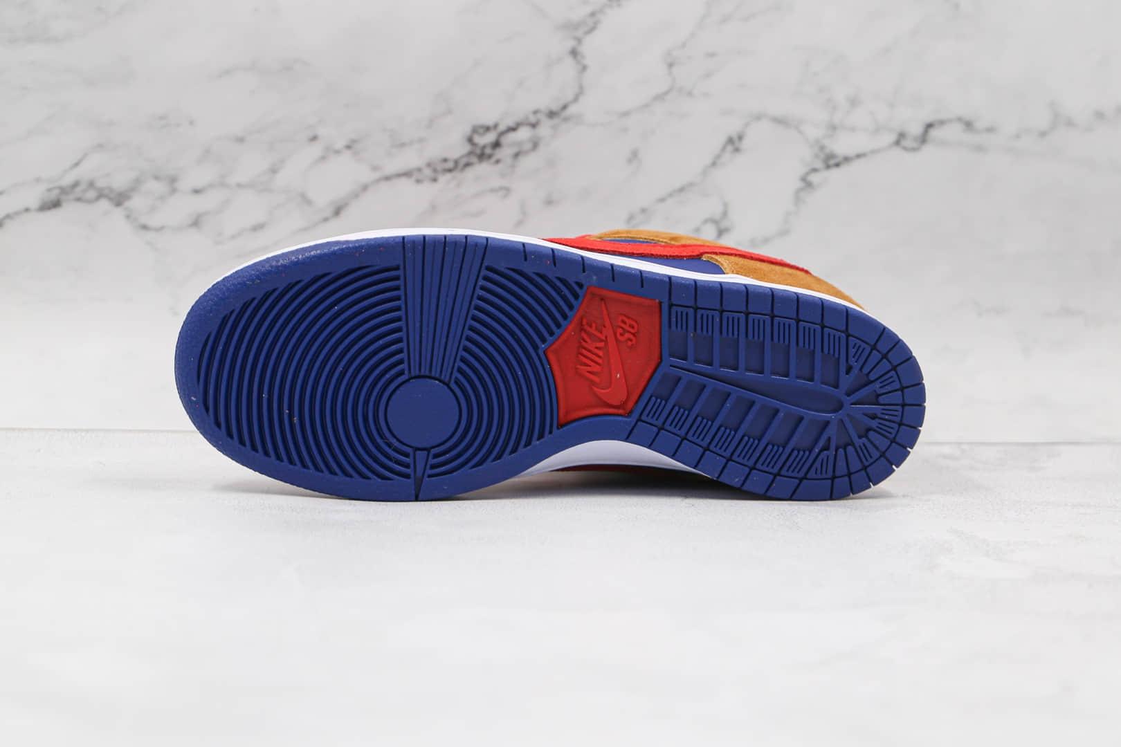 耐克NIKE SB DUNK HI DECON纯原版本低帮SB DUNK黄蓝红拼色板鞋内置气垫 货号:BQ6817-700