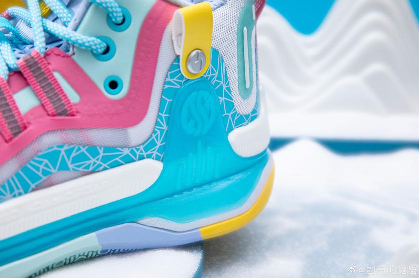 """国产球鞋也超靓!361° AG1 Pro """"彩虹冰山""""即将发售!"""
