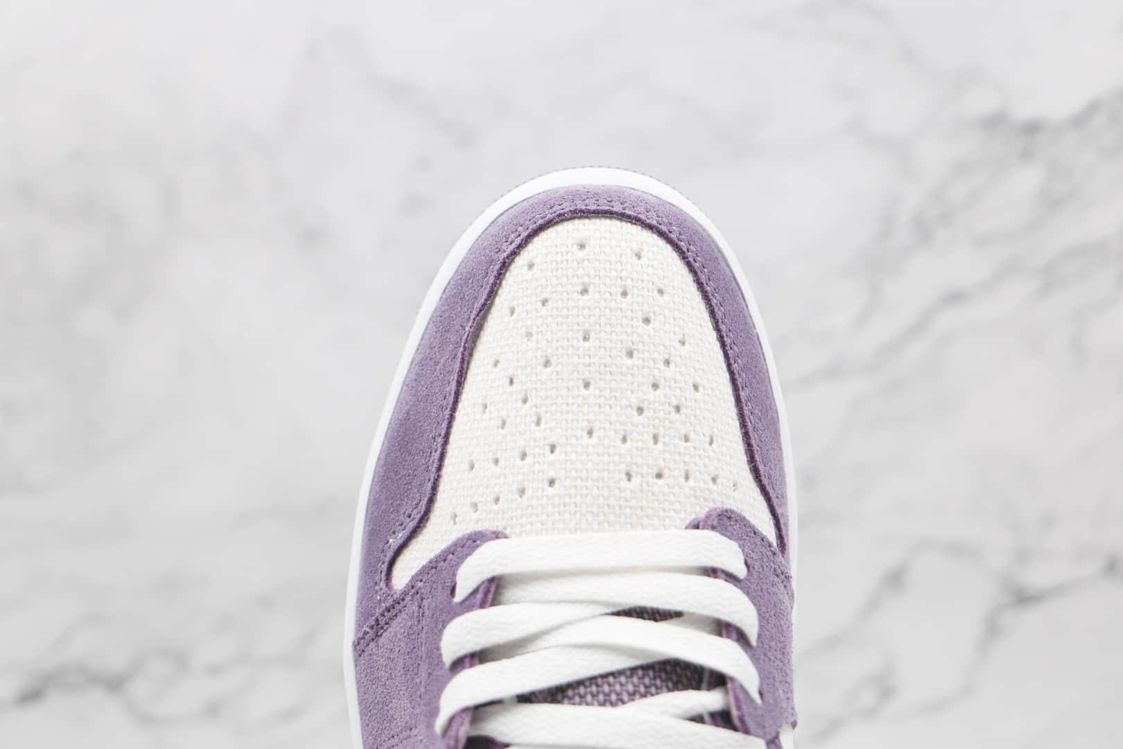 乔丹Air Jordan 1 Zoom Comfort Tropical Twist纯原版本高帮AJ1 Zoom帆布黎明白紫绿色板鞋原鞋开模 货号:CT0978-150