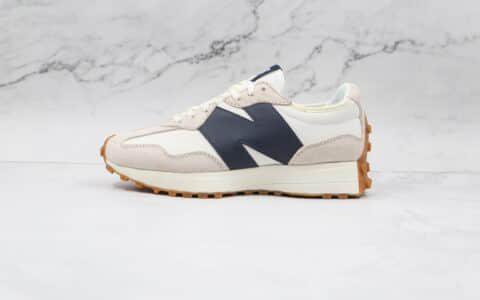 新百伦New Balance 327纯原版本复古慢跑鞋NB327白黑色原盒原标 货号:WS327KB