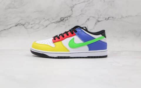 纯原版本耐克SB DUNK低帮糖果色彩色拼接板鞋出货