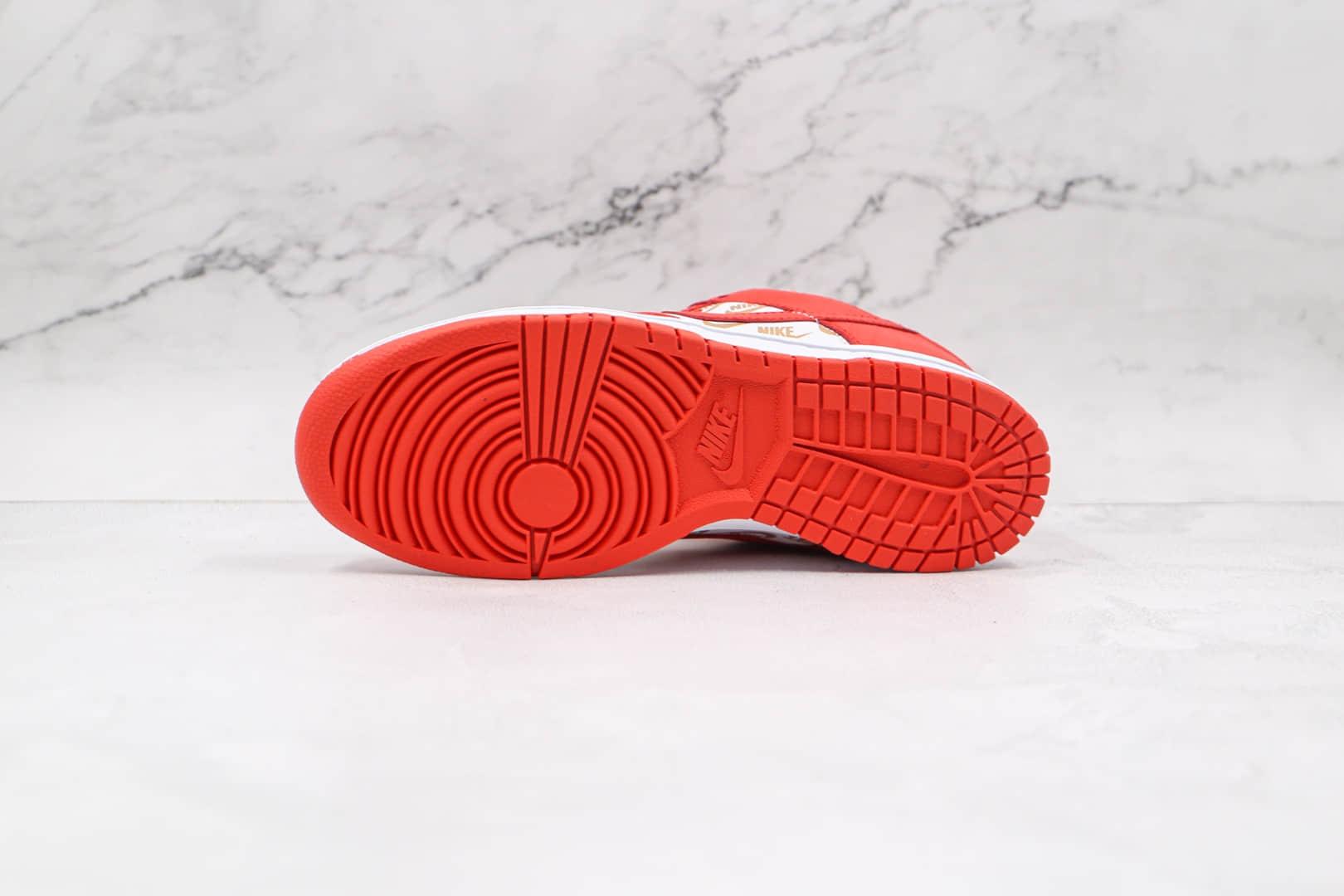 耐克Nike SB Dunk Low Stars Royal Blue x Supreme联名款纯原版本低帮SB DUNK白红色Nike印花板鞋内置气垫 货号:DH3228-161