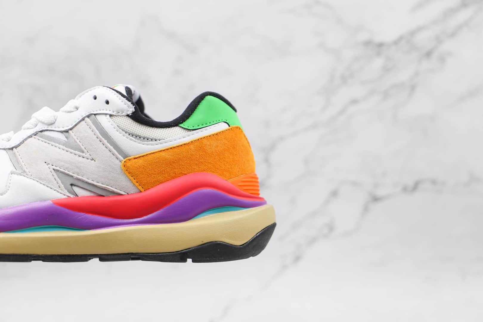 新百伦New Balance 5740纯原版本复古NB5740白彩虹彩色拼接慢跑鞋原鞋开模一比一打造 货号:W5740LA