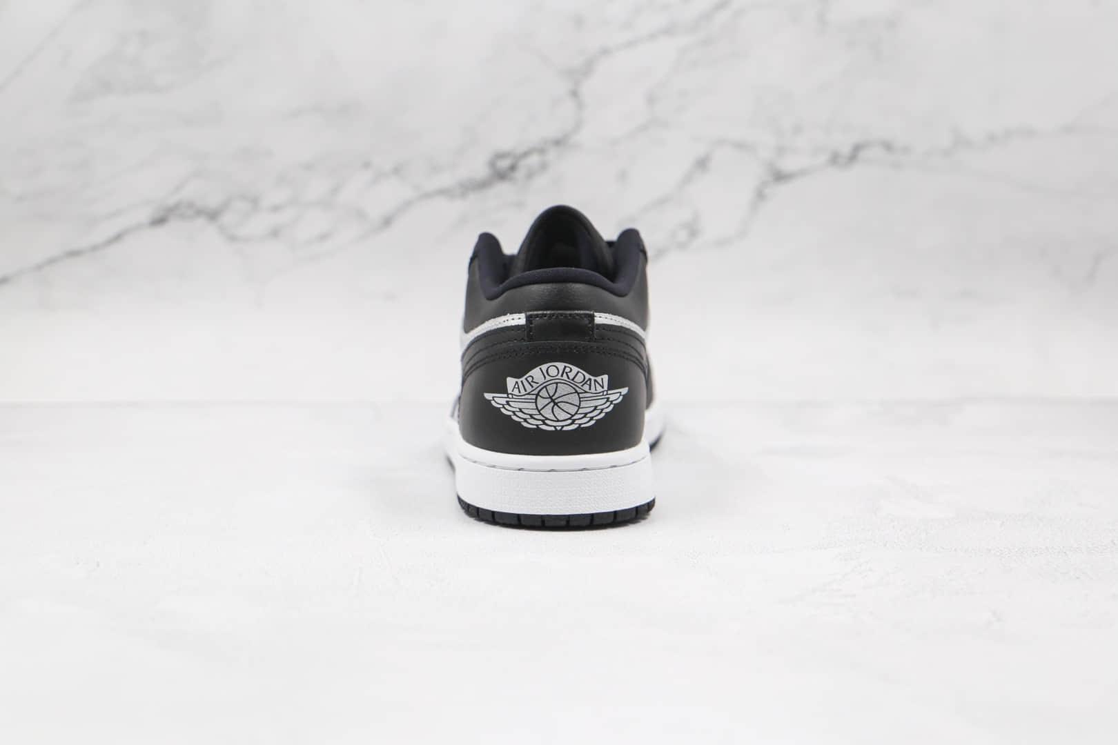 乔丹Air Jordan 1 Low纯原版本低帮AJ1黑银脚趾板鞋原档案数据开发 货号:DA5551-001