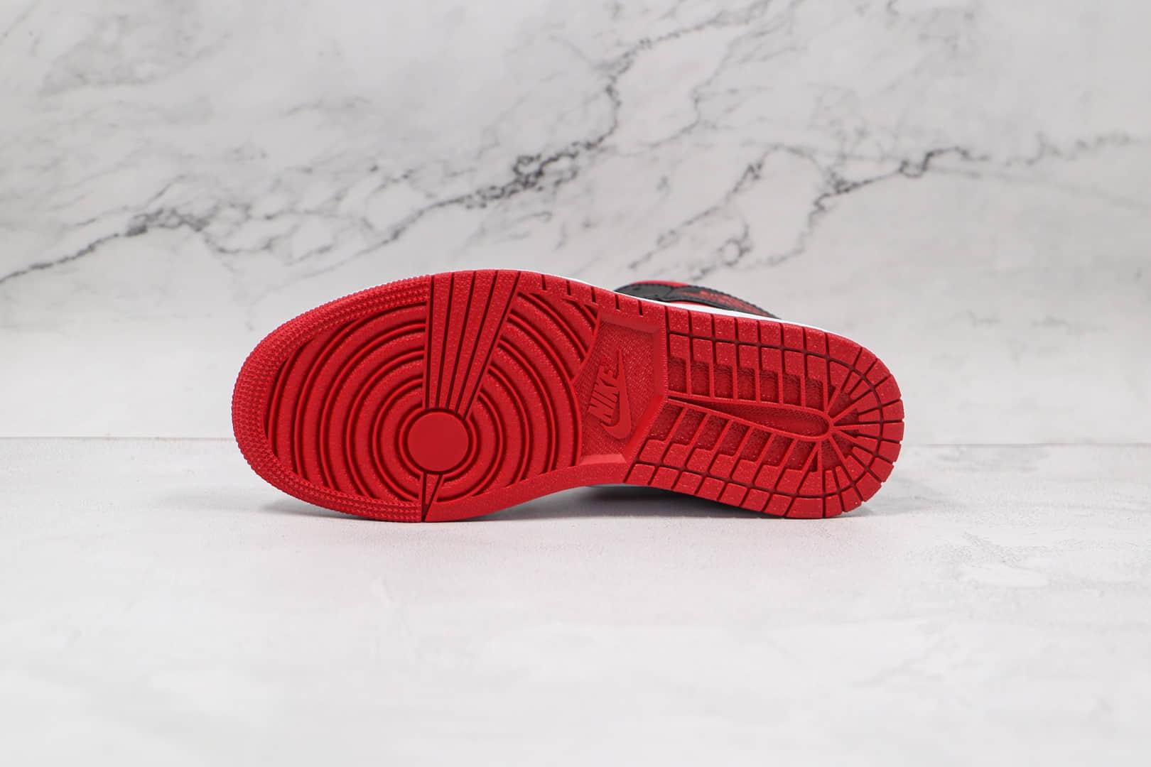 乔丹Air Jordan 1 Mid SE纯原版本中帮AJ1黑白红色板鞋原档案数据开发 货号:554724-122