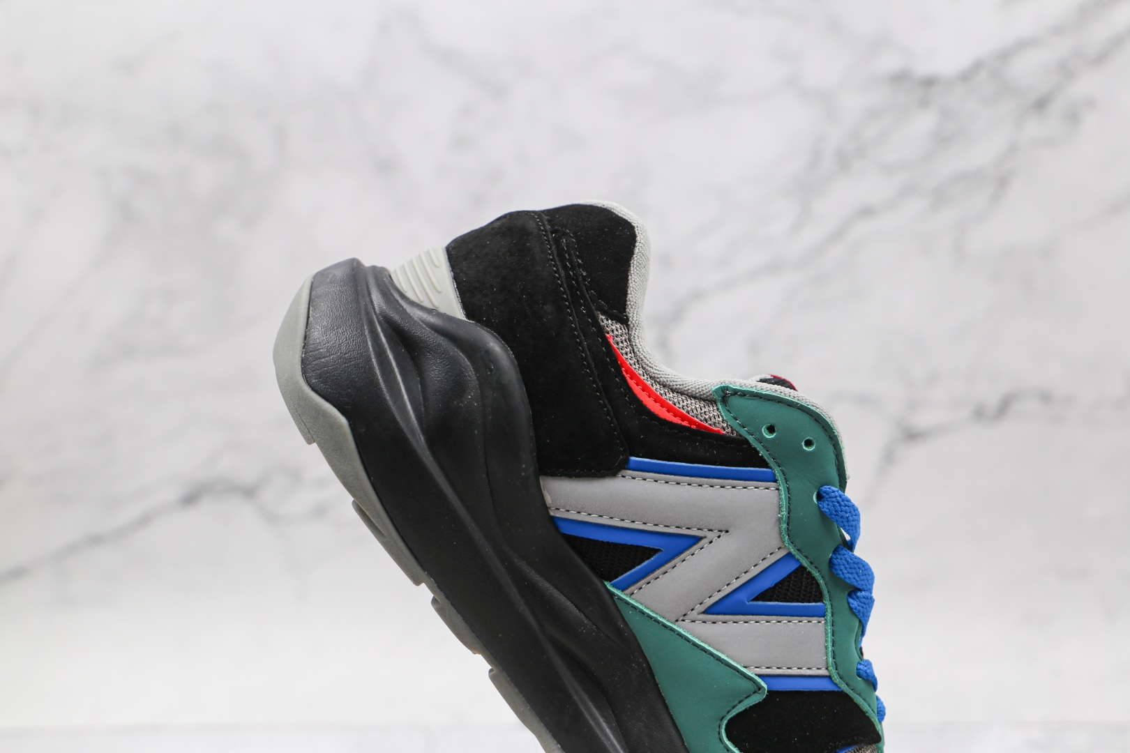 新百伦New Balance 5740纯原版本网面黑蓝色NB5740复古慢跑鞋原档案数据开发 货号:M5740MW