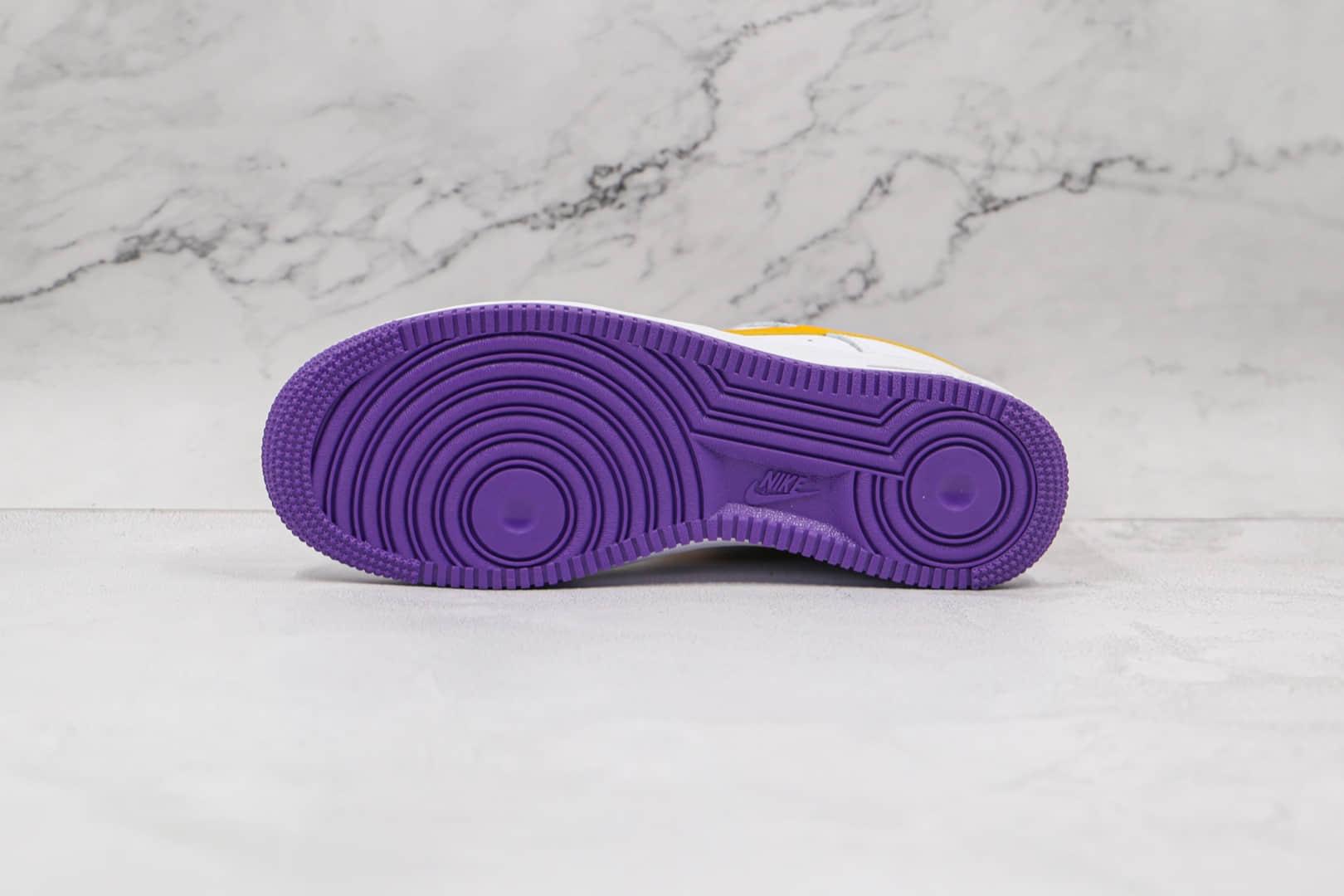 耐克Nike AIR FMRCE 1纯原版本低帮空军一号23数字白黄湖人詹姆斯款板鞋原楦头纸板打造 货号:315122-113