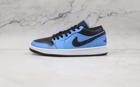 纯原版本乔丹低帮AJ1黑蓝小闪电板鞋出货