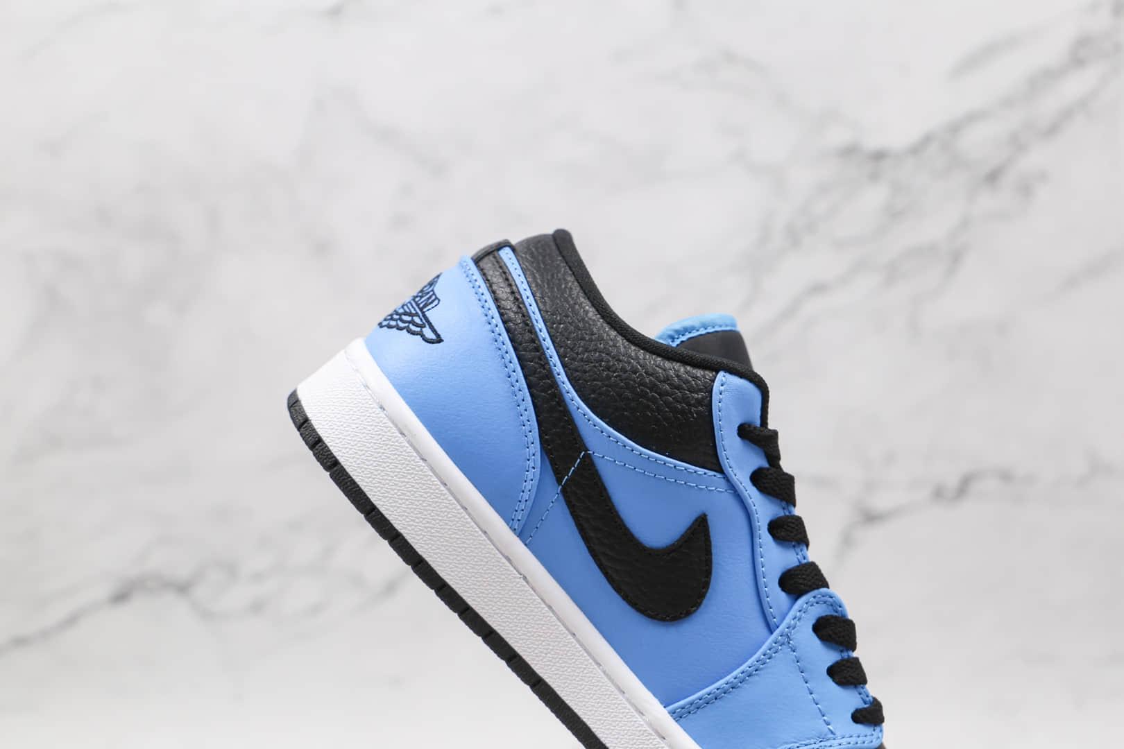 乔丹Air Jordan 1 Low纯原版本低帮AJ1黑蓝小闪电板鞋原盒原标 货号:553558-403