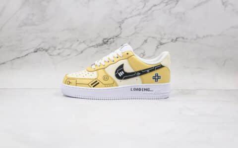 纯原版本耐克低帮空军一号电玩柠檬黄PS5主题系列板鞋出货