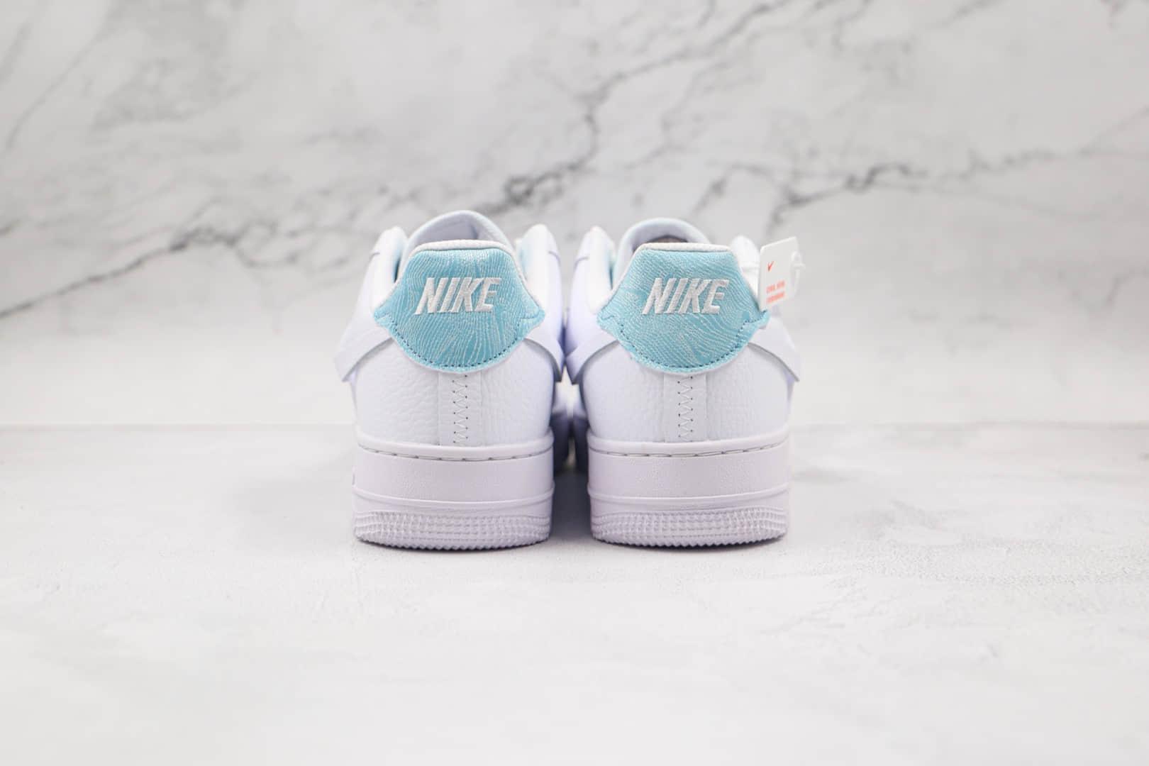耐克Nike AIR FMRCE 1纯原版本低帮空军一号白蓝色断钩板鞋内置气垫 货号:DJ9880-400