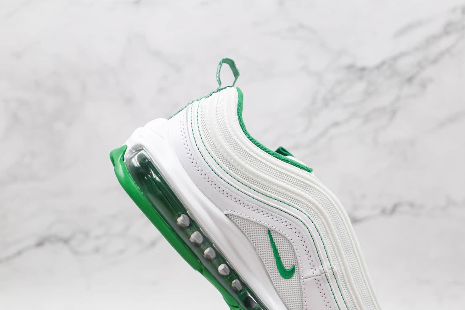 耐克Nike Air Max 97纯原版本白绿色低帮Max97气垫鞋原楦头纸板打造 货号:DH0271-100