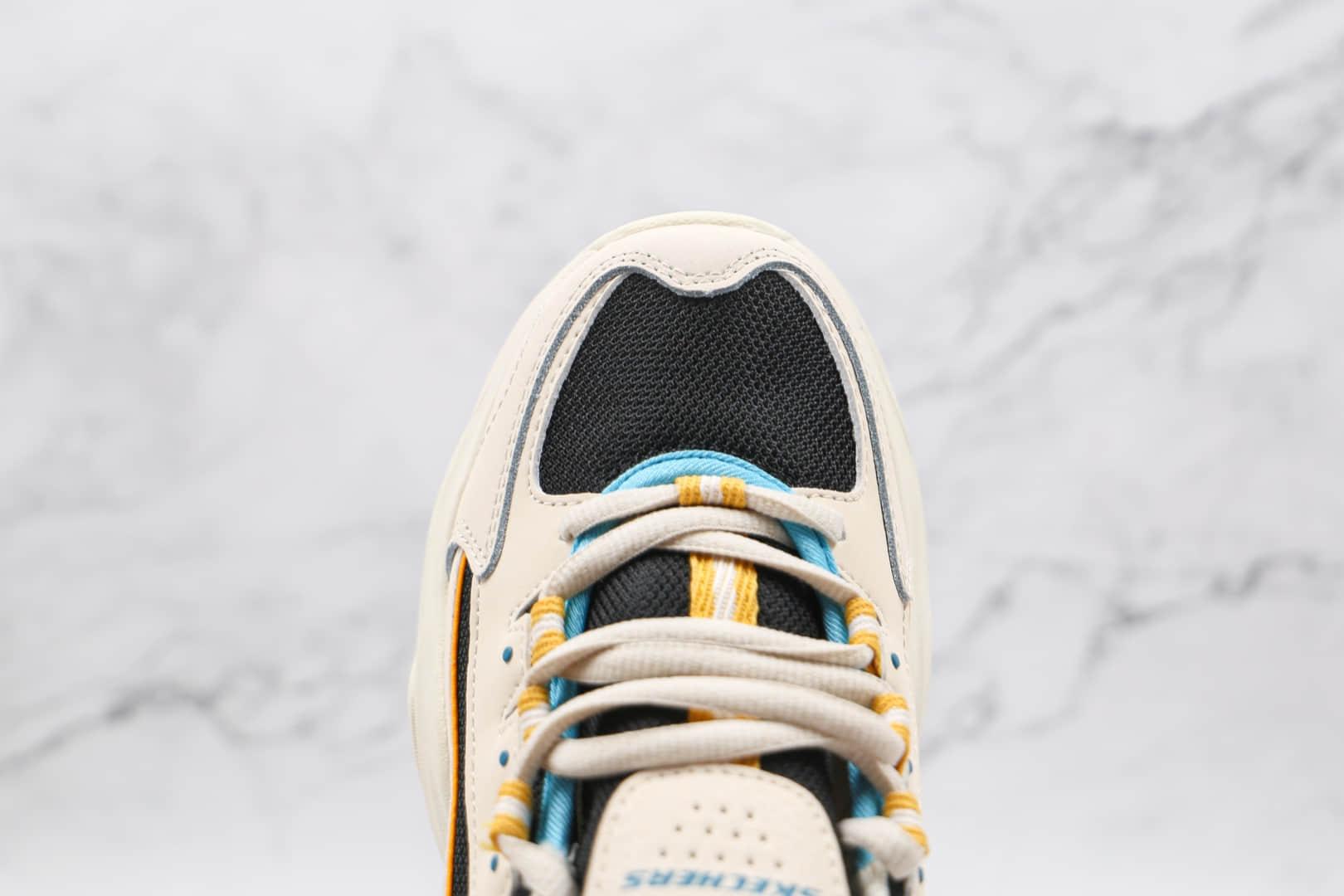 斯凯奇Skechers D'Lites SureThing纯原版本白黑黄色熊猫老爹鞋原盒原标