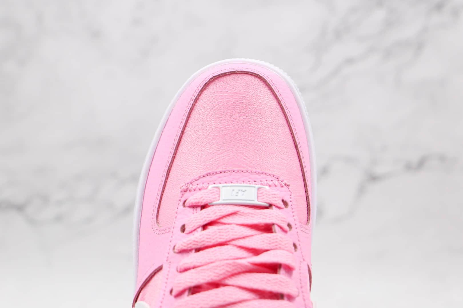 耐克Nike AIR FMRCE 1纯原版本低帮空军一号粉色断钩板鞋内置全掌Sole气垫 货号:DJ6904-600