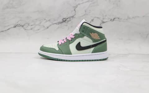 乔丹Air Jordan 1 Mid SE Dutch Green纯原版本中帮AJ1白绿粉板鞋原档案数据开发 货号:CZ0774-300