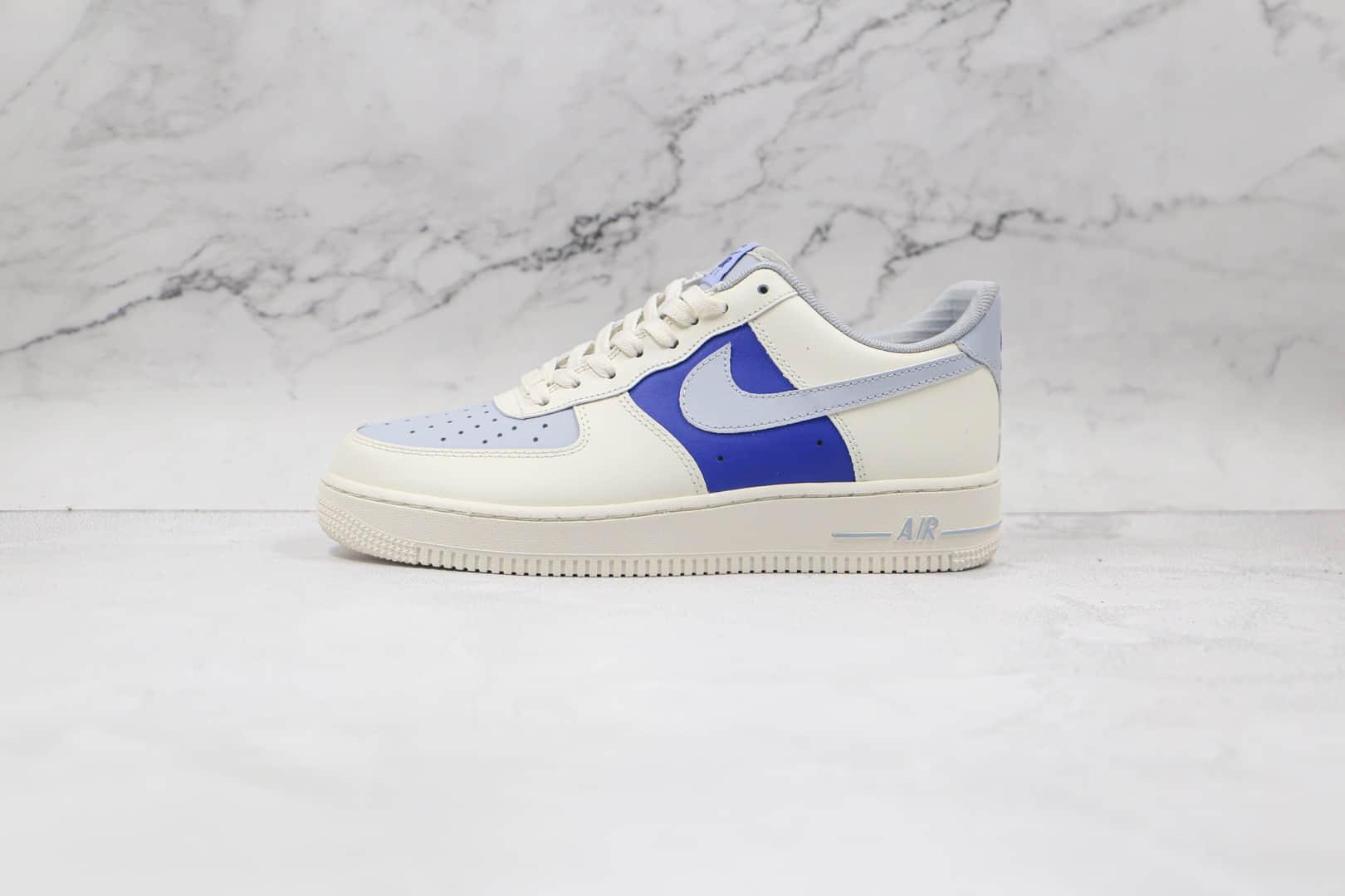 耐克Nike AIR FMRCE 1纯原版本低帮空军一号白蓝色板鞋内置气垫 货号:AQ3778-988