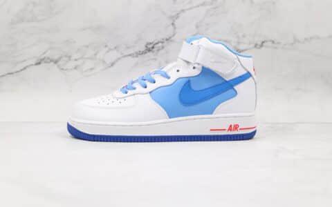 耐克Nike Air Force 1 07 Mid纯原版本中帮AJ1拼色空军一号板鞋原档案数据开发 货号:CD0884-126