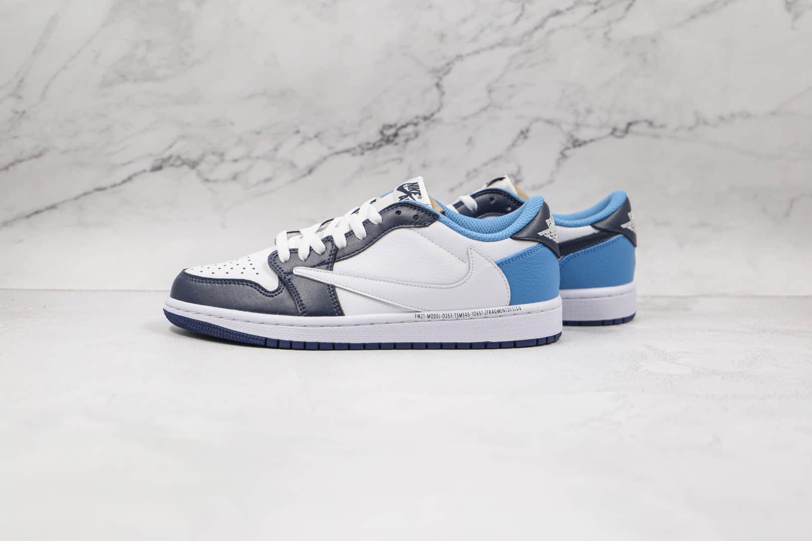 乔丹Air Jordan 1 High OG TS SP纯原版本低帮AJ1倒钩白蓝色板鞋原档案数据开发 货号:CQ4278-001