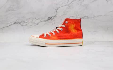 匡威Converse 1970s x Concept联名款公司级版本高帮水蜜桃帆布硫化鞋原楦头纸板打造