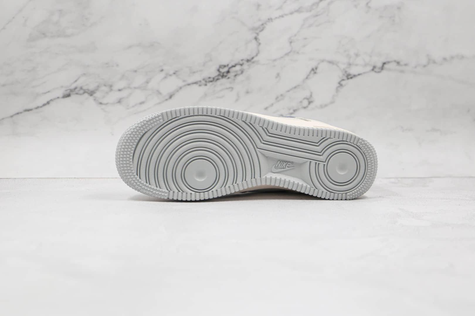 耐克Nike AIR FMRCE 1 Low纯原版本低帮空军一号小巴黎雾霾蓝板鞋内置全掌Sole气垫 货号:CT5566-033