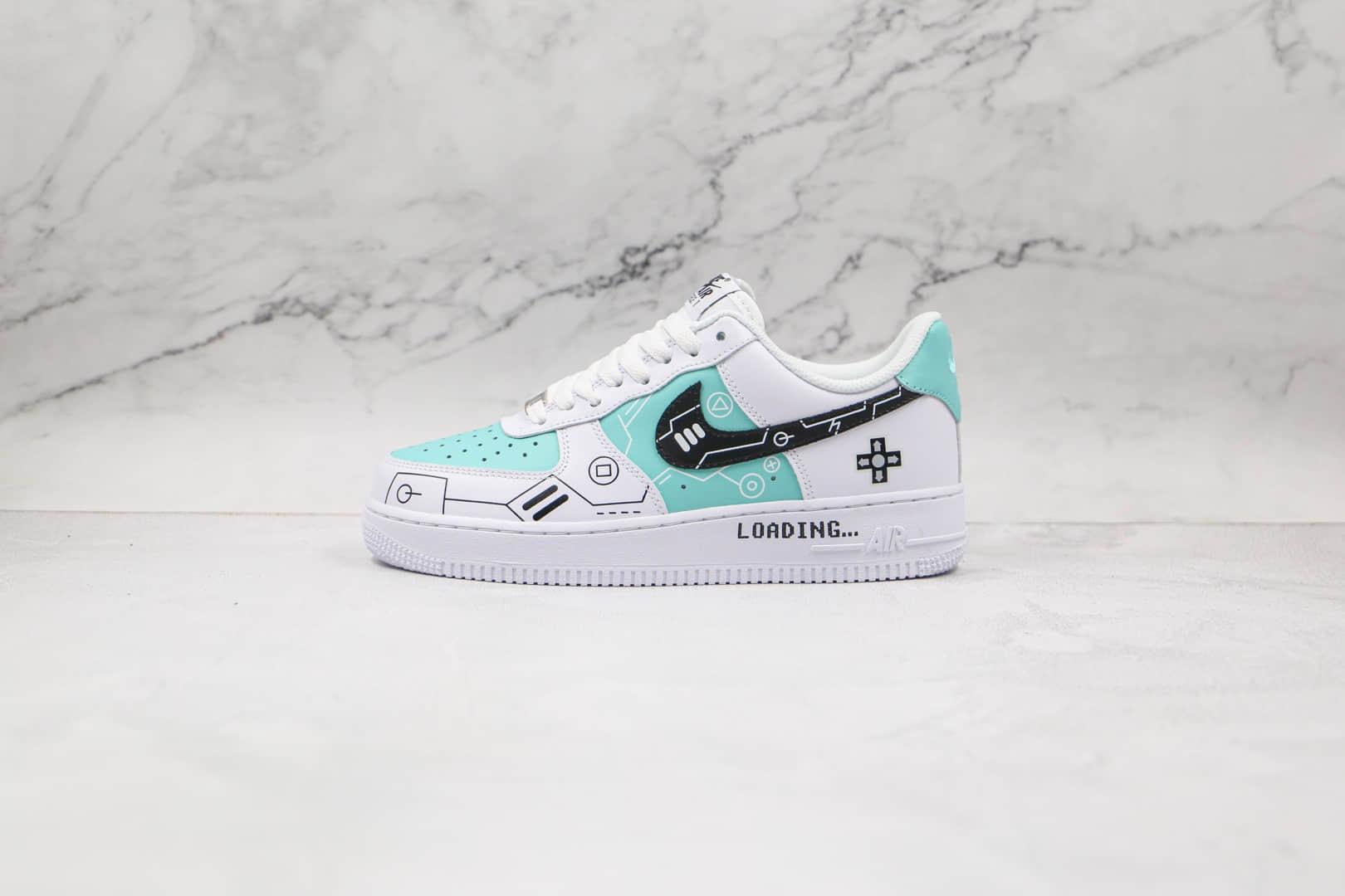 耐克Nike Air Force 1 Low 07纯原版本低帮空军一号PS5电玩主题蒂芙尼绿板鞋内置气垫 货号:CW2288-114