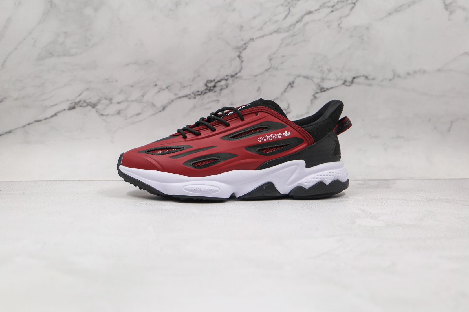 阿迪达斯Adidas original Ozweego Celox纯原版本水管二代皮面酒红色老爹鞋原楦头纸板打造 货号:G57961