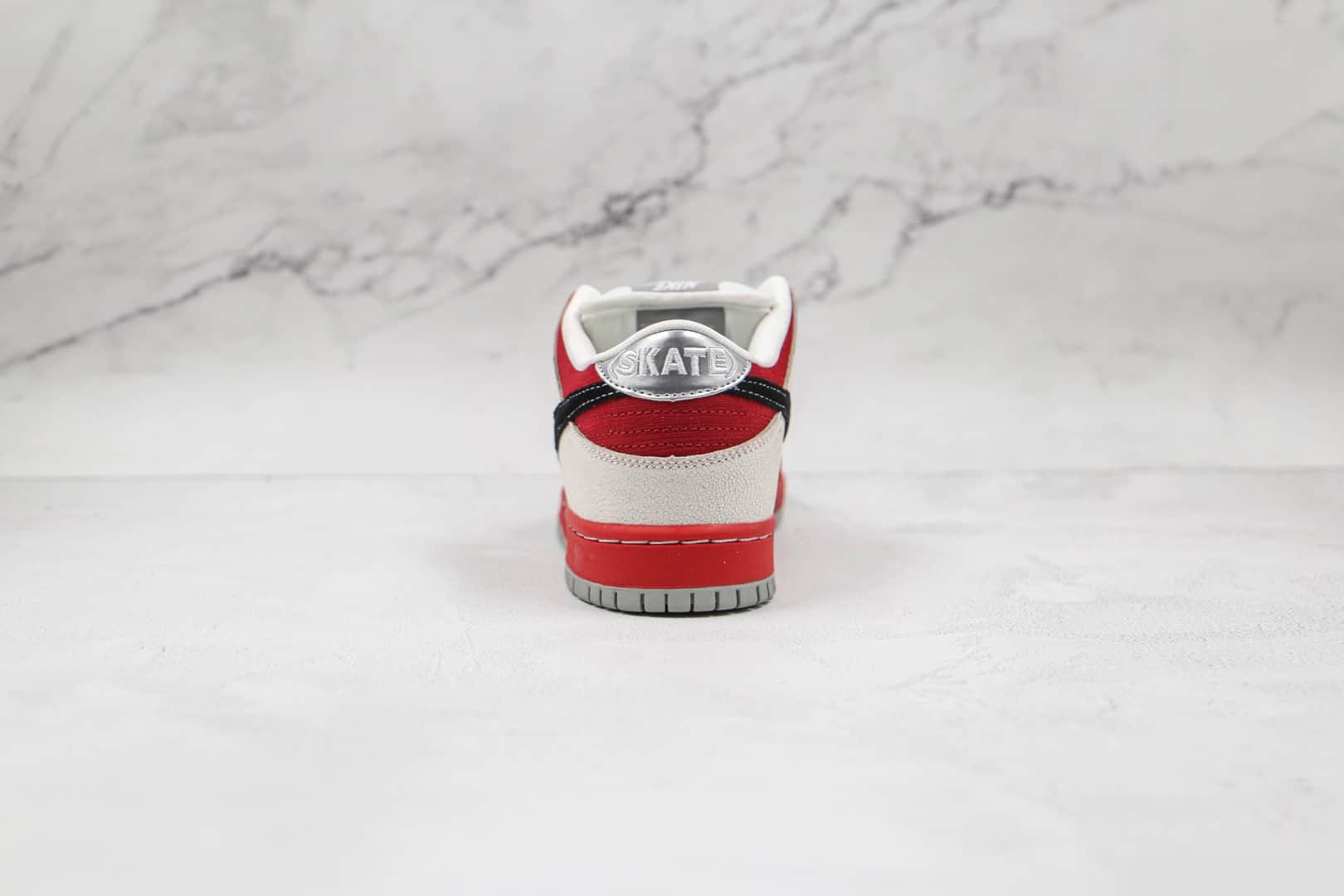 耐克Nike Dunk Low Premium SB纯原版本低帮SB DUNK白红黑色板鞋内置气垫 货号:313170-601