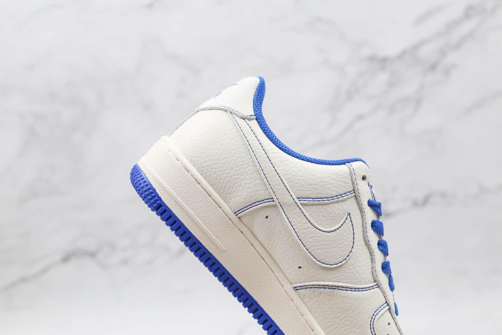 耐克Nike AIR FMRCE 1 LOW Undefeated纯原版本低帮空军一号白蓝缝线板鞋原档案数据开发 货号:UN1570-680