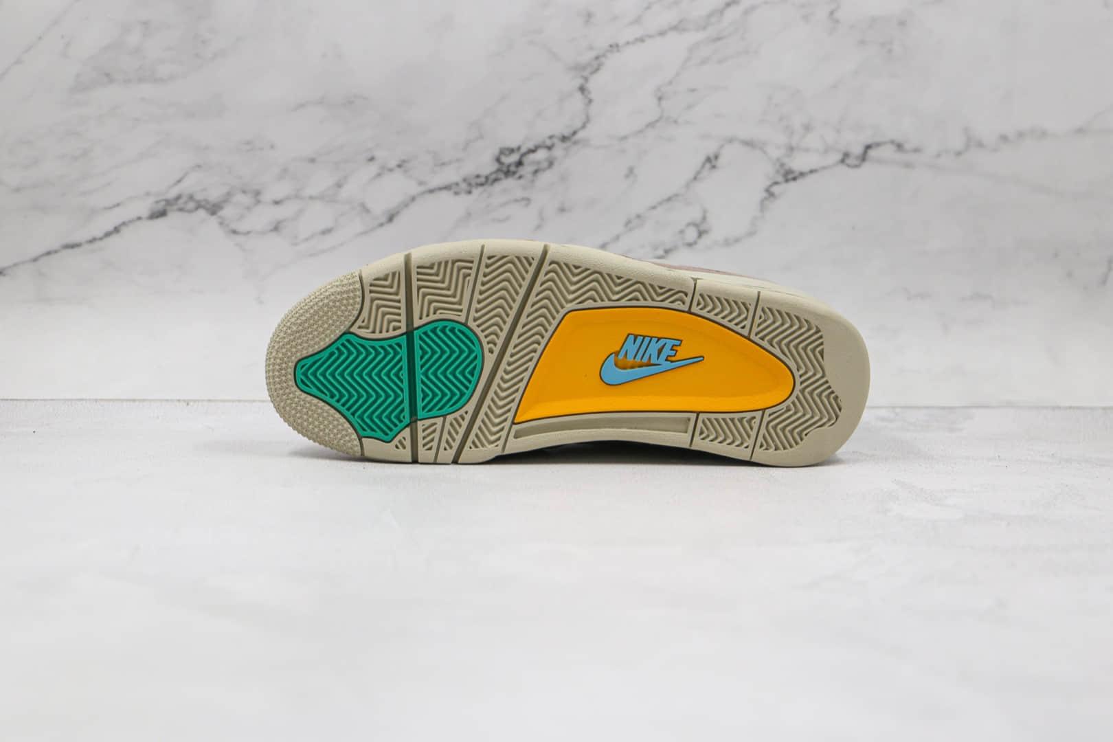 乔丹Air Jordan 4 Taupe Haze x Union洛杉矶联名款纯原版本AJ4灰褐色原楦头纸板打造 货号:DJ7518-242