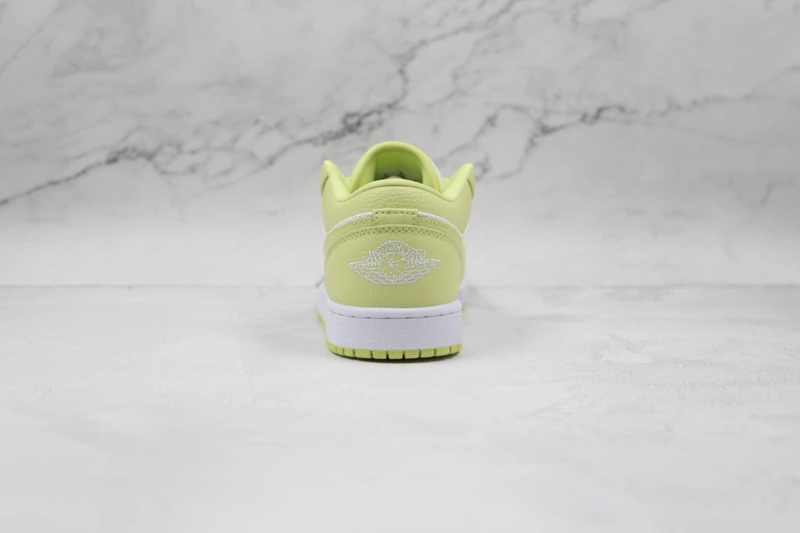 乔丹Air Jordan 1 Low Limelight纯原版本低帮AJ1聚光灯白绿色网面板鞋原盒原标 货号:DH9619-103