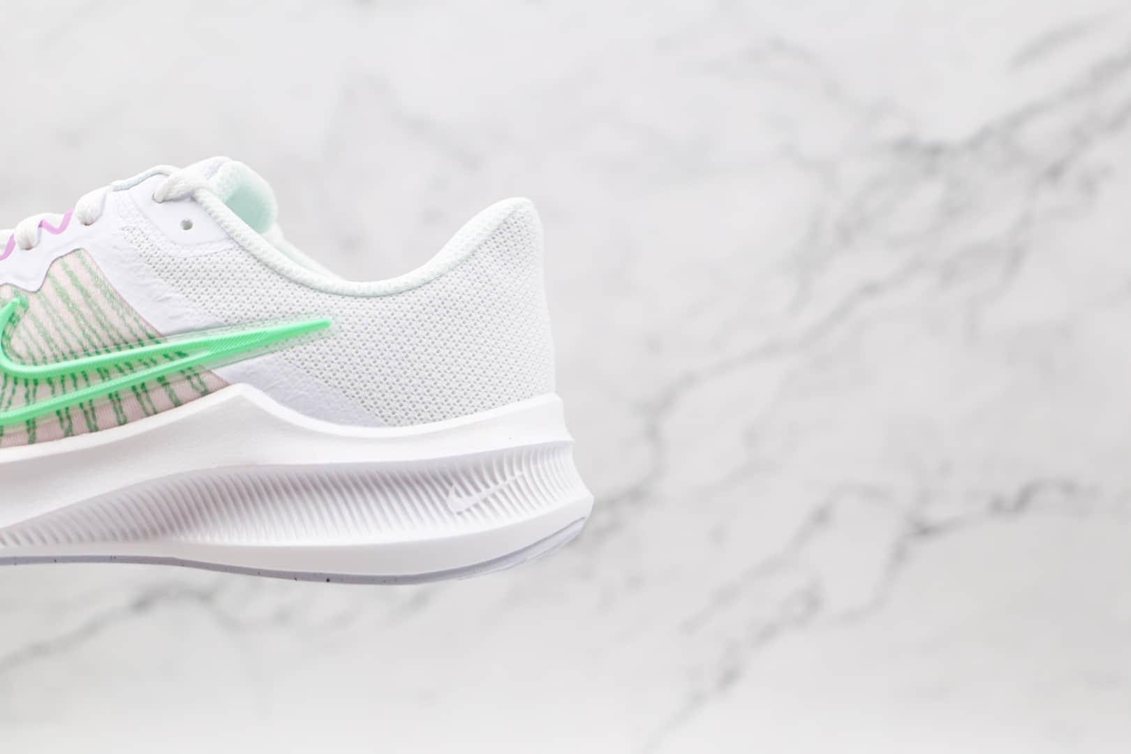 耐克Nike Downshifter 11 2021纯原版本登月11代白绿色慢跑鞋原楦头纸板打造 货号:CW3413-500