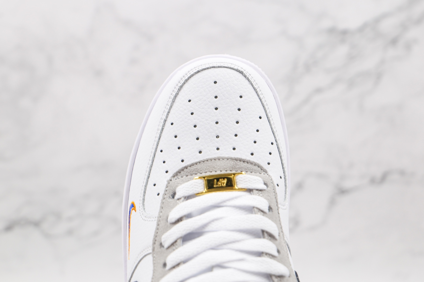 耐克Nike AIR FMRCE 1纯原版本低帮空军一号白黑灰色双钩30 24数字板鞋原档案数据开发 货号:DJ5192-100