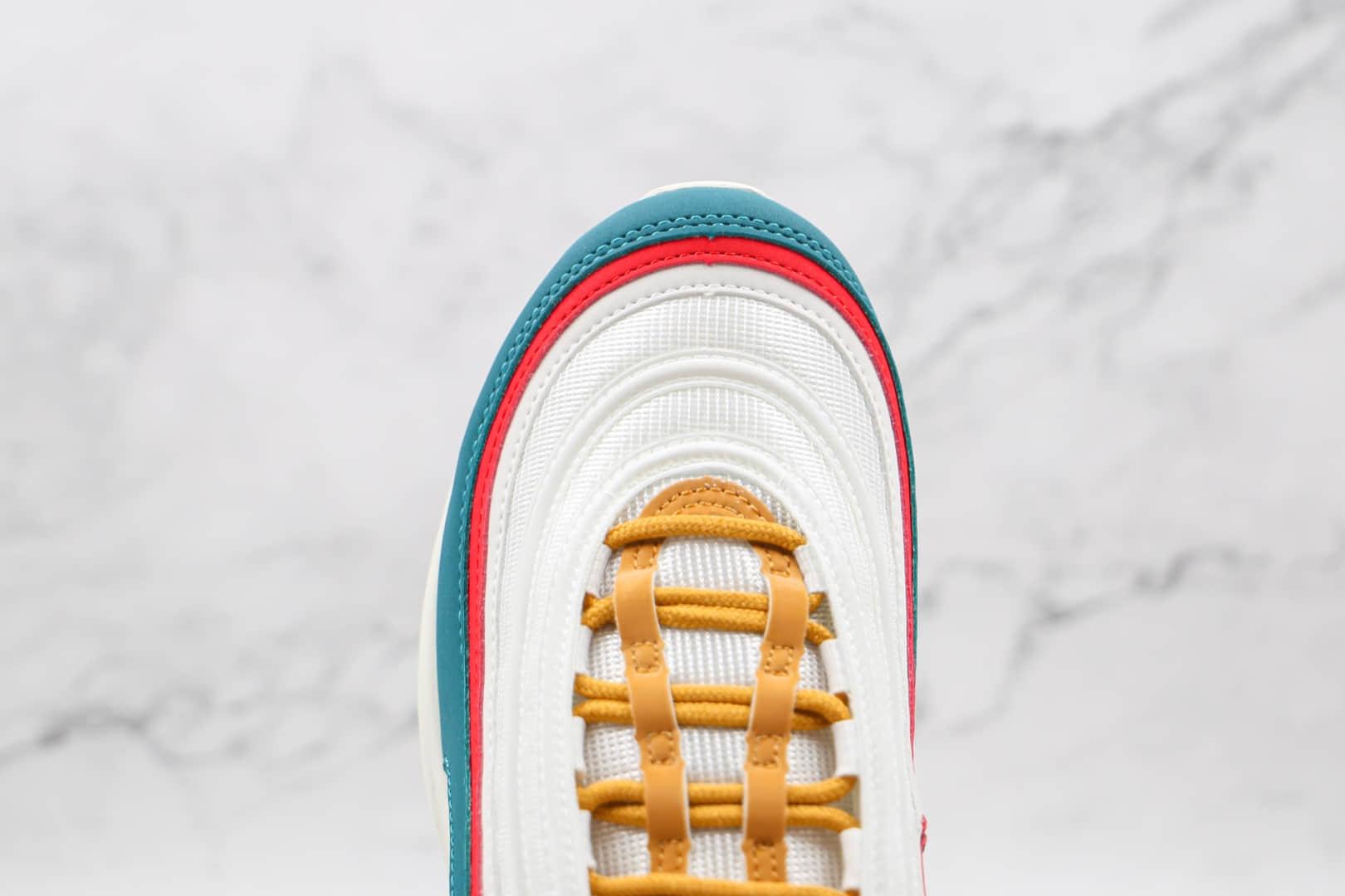 耐克Nike Air Max 97 OG纯原版本白红绿3M反光Max97子弹头气垫鞋内置原厂气垫 货号:DC3494-995