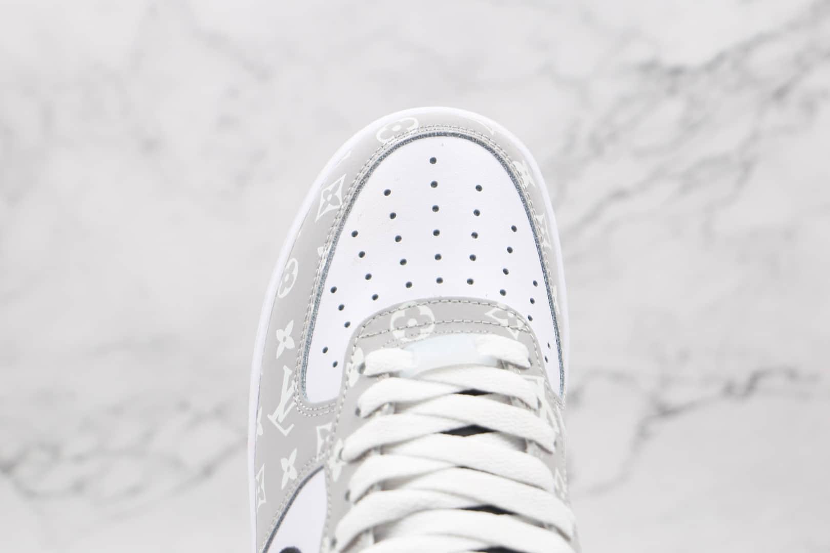 耐克Nike Air Force 1 Low '07纯原版本低帮空军一号灰白色LV联名款板鞋原楦头纸板打造 货号:BQ8988-108