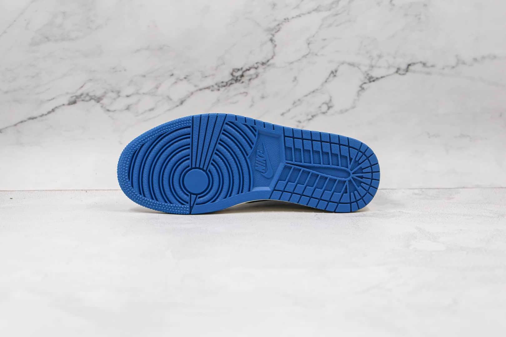乔丹Air Jordan 1 High OG TS SP纯原版本低帮AJ1白蓝色闪电倒勾板鞋原楦头纸板打造 货号:DM7866-140