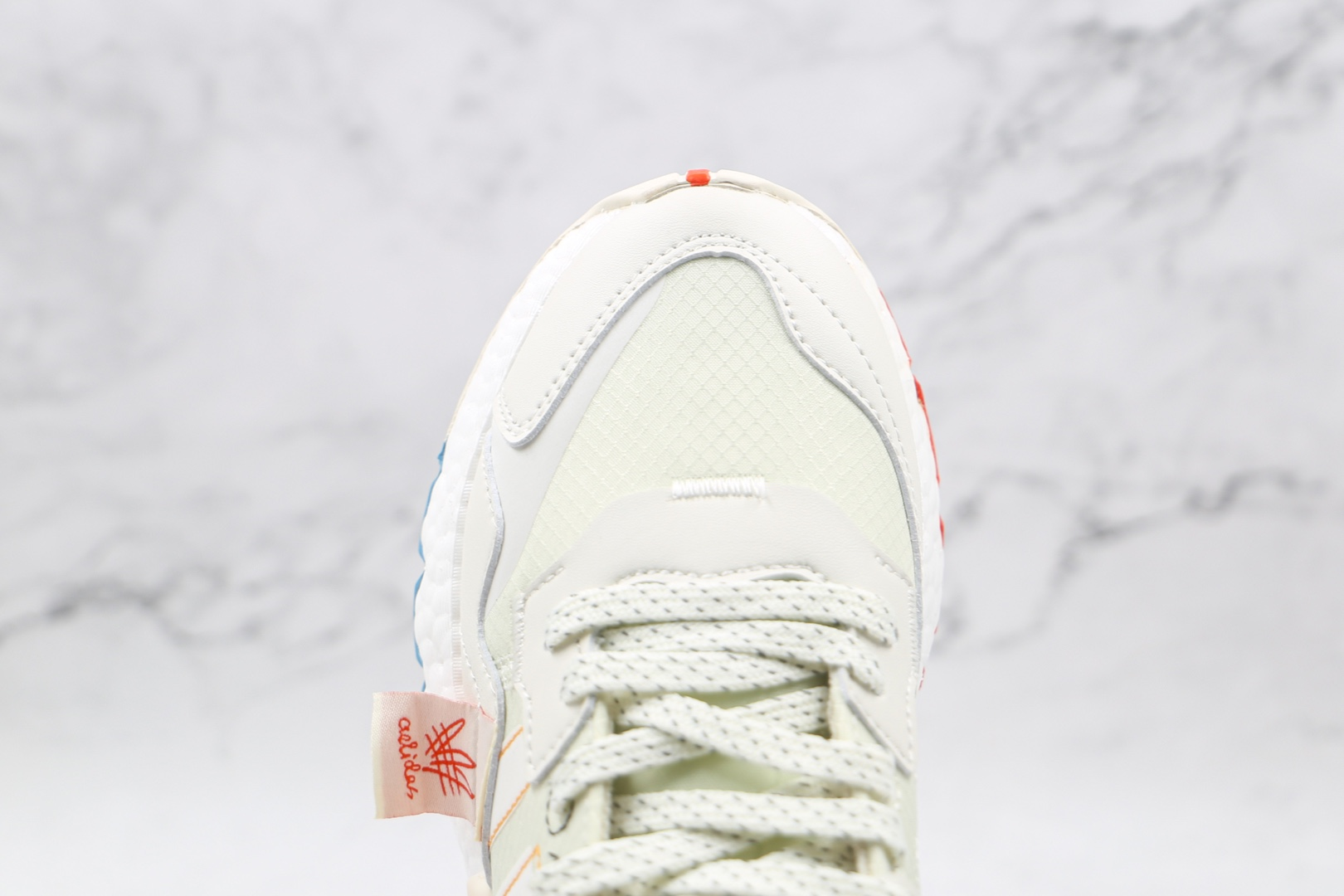 阿迪达斯Adidas Nite Jogger 2019 Boost纯原版本夜行者一代米白色涂鸦3M反光爆米花跑鞋原鞋开模一比一打造 货号:CZ3045