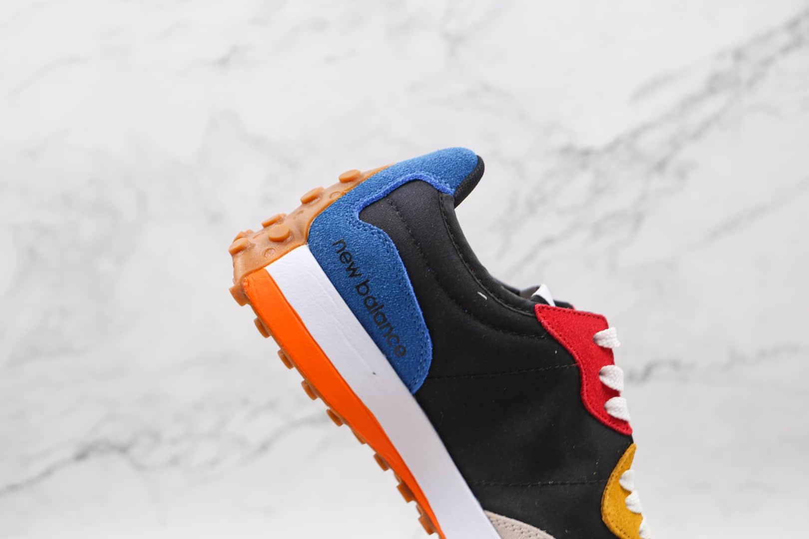 新百伦New Balance 327纯原版本布面白黑蓝红黄色彩色拼接NB327复古慢跑鞋原鞋开模一比一打造 货号:MS327PBB