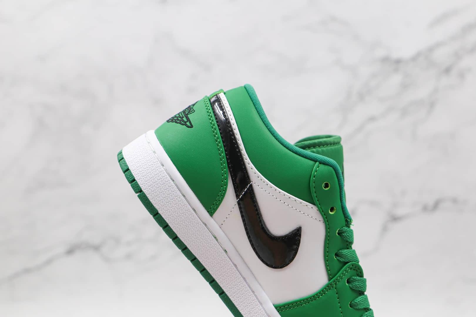 乔丹Air Jordan1 Low纯原版本低帮AJ1白绿色凯尔特人板鞋原盒原标 货号:553560-301
