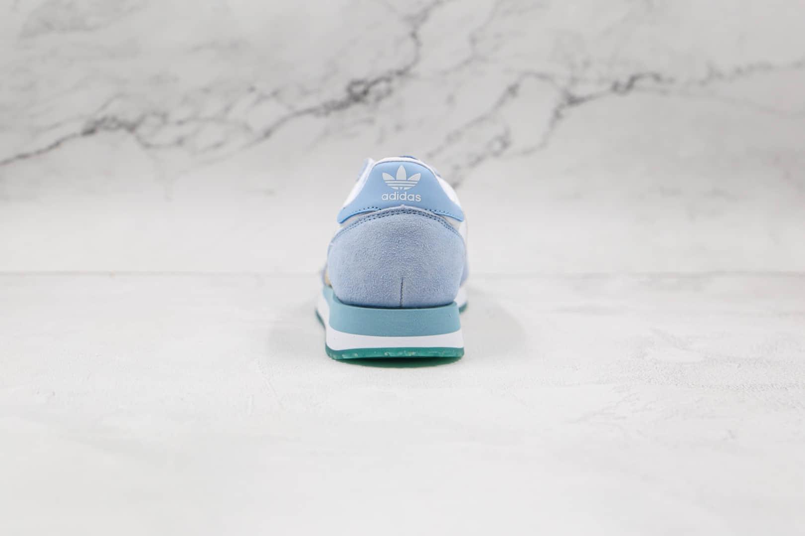 阿迪达斯Adidas Unisex Originals USA 84纯原版本三叶草白蓝金色USA 84冰雪奇缘运动鞋原盒原标 货号:FW2052
